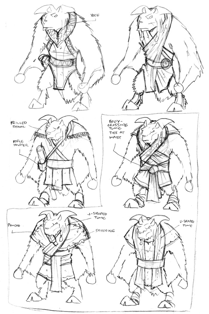 designing clothes sketches. The Ulon Dosi clothes were a