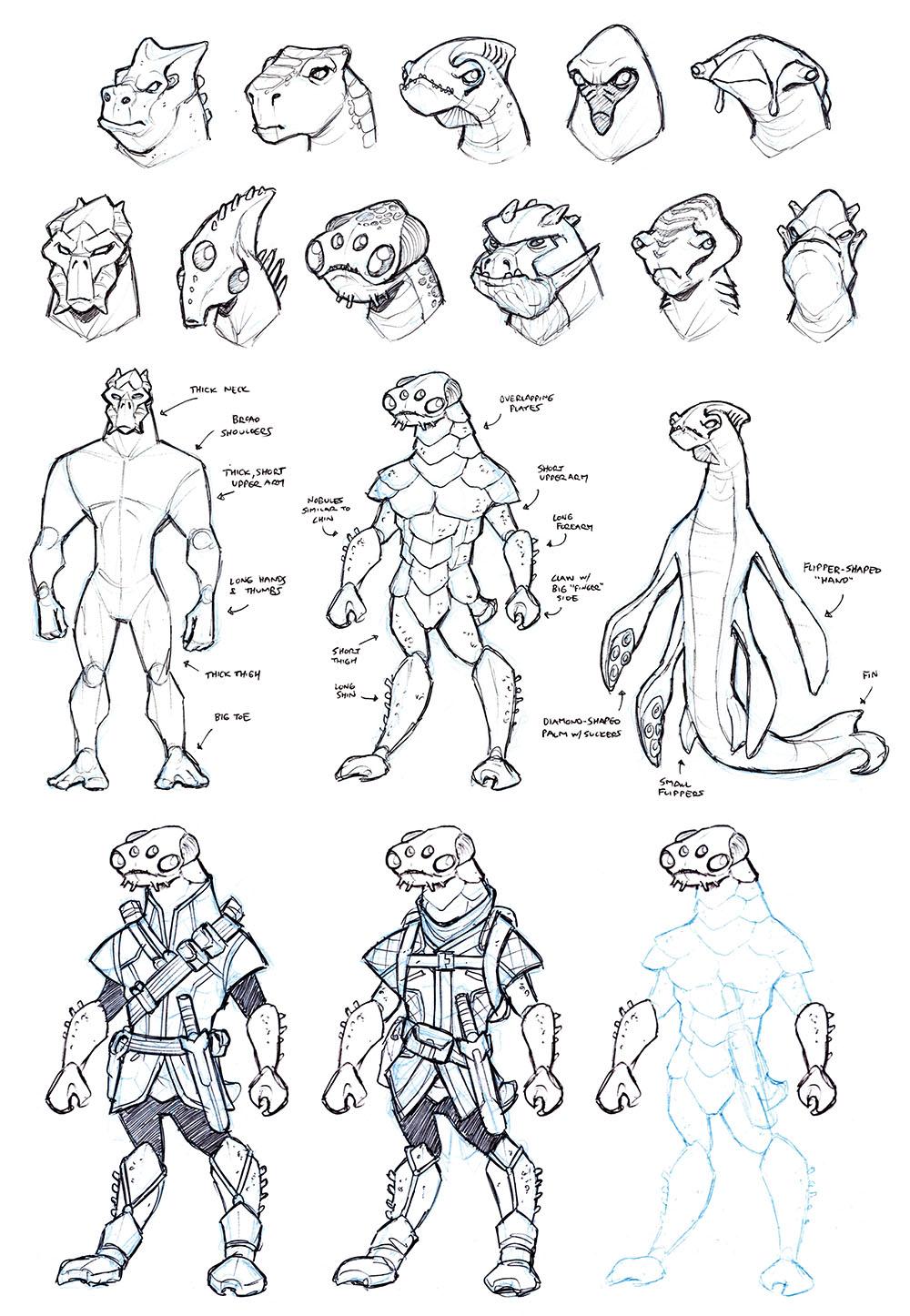 BONUS CONTENT: Sketchbook: Azarek Hunters