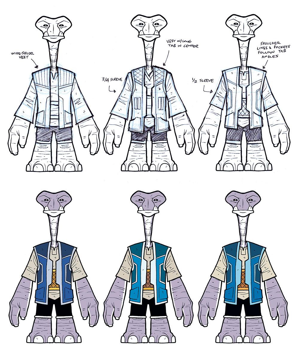 BONUS CONTENT: Sketchbook: Roka Costume